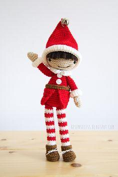 Amigurumi christmas elf - design by Airali in Simply Crochet # 25