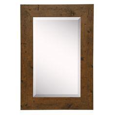 American Made Rayne Rustic Light Walnut (Brown) Wall/ Vanity Mirror (26.5 x 32.5)