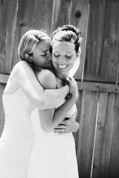 Super in love!  lesbian wedding image