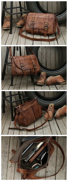 Handmade Unisex Messenger Bag Top Grain Leather Travel Bag Crossbody Bag Leather Satchel 9042 My Style Bags, Photography Bags, Messenger Bag Men, Leather Crossbody Bag, Leather Bags, Cross Body Handbags, Travel Bag, Fashion Bags, Unisex