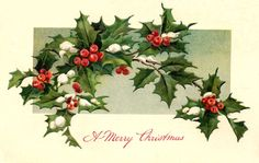 antique Christmas postcard greeting image