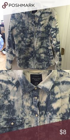 Button down shirt Tie dye chambray button down American Eagle Outfitters Tops Button Down Shirts