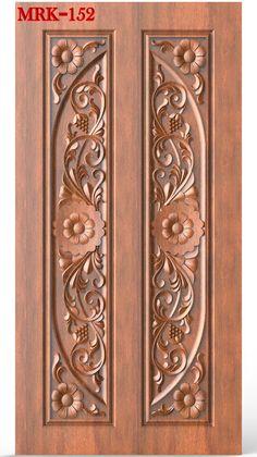 Wooden Front Door Design, Wood Front Doors, Wooden Doors, Wood Carving Designs, Wood Carving Patterns, Carved Wood, Hand Carved, Chair Design, Furniture Design