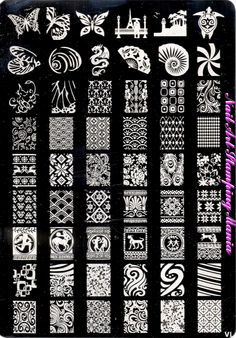 167 best Stamping Plates I Own images on Pinterest | Nail plate ...