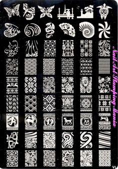 Nail Art Stamping Mania: AliExpress QSF VL-1 Plate Review  VL-1 http://nailartstampingmania.blogspot.it/2014/08/aliexpress-qsf-vl-1-plate-review.html