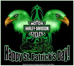 Happy St. Patrick's Day from Harley Davidson