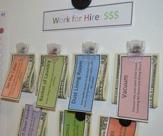 Great idea for kids to want to do chores!
