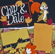 Chip+and+Dale+Disney+Premade+Scrapbook+Pages+12x12+by+cbcreations