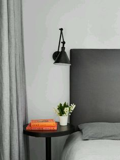Linen curtains grey - for lounge area