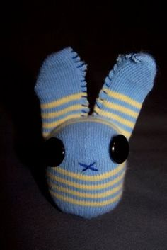 Baby sock bunny: Would be even cuter if you machine sewed the ears.