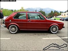 Red VW Golf Mk1 at the Woerthersee Tour 2013 | by Retro-Motoring & WoertherseePics