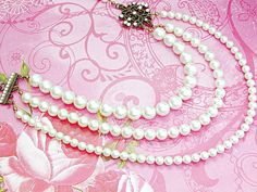 $125  Multi strand Swarovski pearl wedding necklace. Elegant, romantic, classic, and yet contemporary! Get this for your special day!