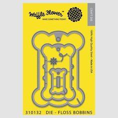 Ellen Hutson LLC - Waffle Flower Dies, Floss Bobbins, $26.00 (https://www.ellenhutson.com/waffle-flower-dies-floss-bobbins/)