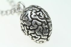 Your Perfect Brain Anatomical Necklace silverplated by billyblue22, $30.00