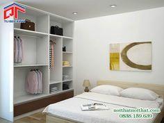 Mẫu tủ áo âm tường cho phòng ngủ hiện đại TA-16