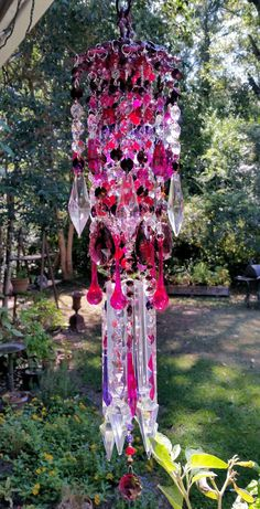 Aubergine Antique Crystal Wind Chime, Fruits and Flowers Crystal Wind Chime…