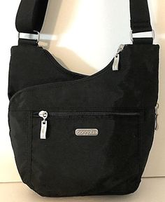 b082d2e52 NEW BAGGALLINI Pocket Crossover Crossbody Shoulder CRISS CROSS BAG Black  Nylon #Baggallini #MessengerCrossBody Hobo