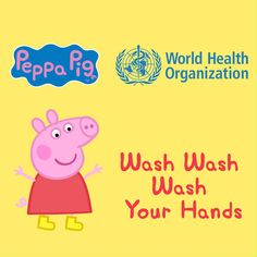 """Wash your hands for 40 seconds and sing along """"Wash Wash Wash Your Hands"""" with Peppa Pig and her friends, Rebecca Rabbit and Mr Badger!⠀ Washing your hands can help to stop the spread of #COVID19.⠀ ⠀ WHO partnered with preschool animated television series Peppa Pig to show the fun in safe hand hygiene by encouraging children and families to wash their hands for 40-second. Preschool Education, Teaching Kids, Beginning Of School, First Day Of School, Peppa Pig, Encouragement, Hand Hygiene, Social Stories, Lessons For Kids"""