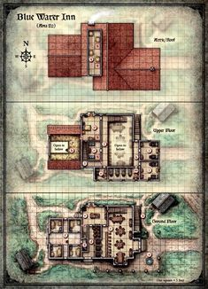 Curse of Strahd - Map of the Blue Water Inn