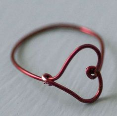 Make a wire heart ring.