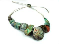Artisan Ceramic BeadS Large collection  natural  by greybirdstudio, £47.00