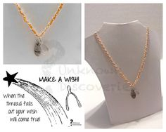 Make a Wish Necklace Wishbone Necklace by UnknownDiscoveries