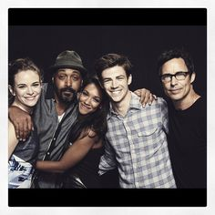 The Flash - Danielle Panabaker, Jesse L Martin, Candice Patton, Grant Gustin and Tom Cavanagh