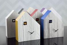 I'm a big the traditional cuckoo clock.  This modern version is fun too.  Cemento - Orologi a Cucù > Diamantini & Domeniconi