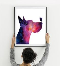 Great Dane wall decor, Butterfly print, Galaxy watercolor, Printable gift, Large poster, Dog art print, Dog gift, Pet gift, Instant download Romantic Home Decor, Classic Home Decor, Retro Home Decor, Hallway Pictures, Glamour Decor, Home Interiors And Gifts, Cheap Rustic Decor, Watercolor Galaxy, Luxury Decor
