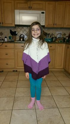 Poncho I knit for my niece Cassi while convalescing from ankle surgery.