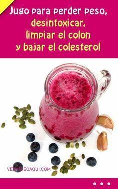 #colon #colesterol #salud #saludable Jugo para perder peso, desintoxicar, limpiar el colon y bajar el colesterol