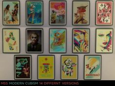 Simsworkshop: Modern Cubism Paintings by midnightskysims • Sims 4 Downloads