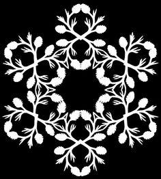 §§§ : pinecone cut paper snowflake