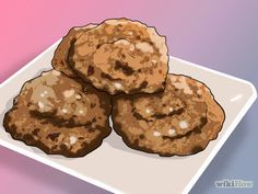 How to Make Horse Treats. Horses enjoy the occasional treat or special feed. There are a wide variety of options that are easy to make at home, and your horse will love. Oatmeal cookies, crunchy snacks, grass salads, and fruit-based treats. Horse Treats, How To Make Cookies, Oatmeal Cookies, Muffin, Horses, Homemade, Snacks, Fruit, Breakfast
