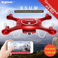 Syma X5Uw #drones With Wifi Camera Hd 720P Real-Time Transmission Fpv Quadcopter 2.4G 4Ch Rc - PINkart.in