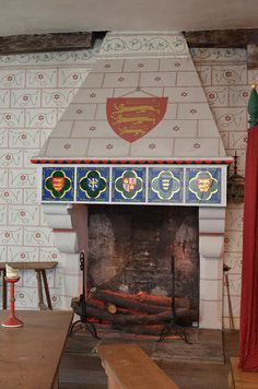 BEFORE THE WARS OF THE ROSES-- Fireplace in Edward I's bedroom, Tower of London