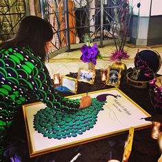 Brilliant wedding guest book at my cousins wedding - sign the peacock! | Flickr - Photo Sharing!