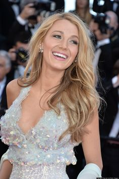 blake lively - chanel white sequin gown at cannes 2014.