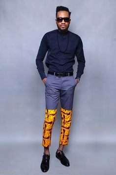 Modern African Clothing, African Print Fashion, Ethnic Fashion, Estilo Dandy, African Wear, African Suits, Fashion Pants, Mens Fashion, Masculine Style
