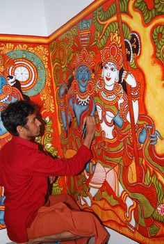 traditional mural painter from Kerala