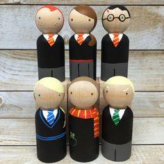 Harry Potter Peg Doll Set by PeggedByGrace on Etsy