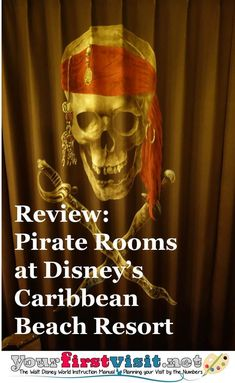 Disney World Moderate Resorts | The Pirate Rooms at Disney's Caribbean Beach Resort - a detailed look (including floor plan and photos) |  from yourfirstvisit.net Disney World Deals, Disney World Planning, Disney World Resorts, Disney Vacation Club, Walt Disney World Vacations, Disney Travel, Caribbean Beach Resort, Beach Resorts, Disney World Tips And Tricks