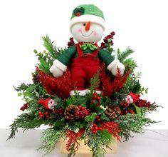 Lighted Snowman decor designed by Karen B., A.C. Moore Erie, PA #christmas #wreath #glassblock