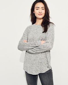 Hollister Must-Have Easy T-Shirt Hollister, Must Haves, Ruffle Blouse, Long Sleeve, Sleeves, T Shirt, Tops, Women, Simple
