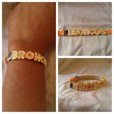 Denver Broncos Football Handmade Bracelet