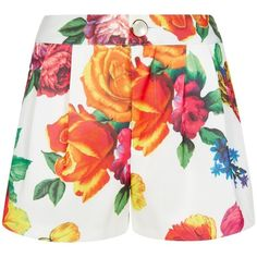 Blaz Blooms Dorris Shorts ($86) ❤ liked on Polyvore featuring shorts, bottoms, short, zipper shorts, pocket shorts, zipper pocket shorts and short shorts
