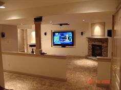 Basement Remodel in West Chester, PA - traditional - basement - philadelphia - Tatcor.com Building and Remodeling