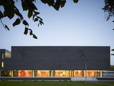 Sports College at Fontys University, by Mecanoo Architecten. Fontys Sporthogeschool Theo Koomenlaan 3 5644 HZ Eindhoven The Netherlands