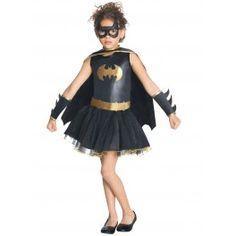 Disfraz de Batgirl niña con tutú. Batman tutu costume for supergirls.