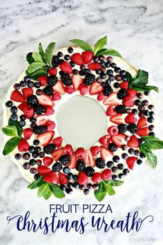 Drizzle Dolcedi to make your Fruit Pizza Christmas Wreath a little sweeter this Christmas!